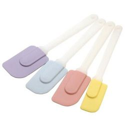 Silicon Spatulas.  A necessity.  Unbeatable for scraping bowls clean.  Pick a fairly pliable one that will bend along the curves