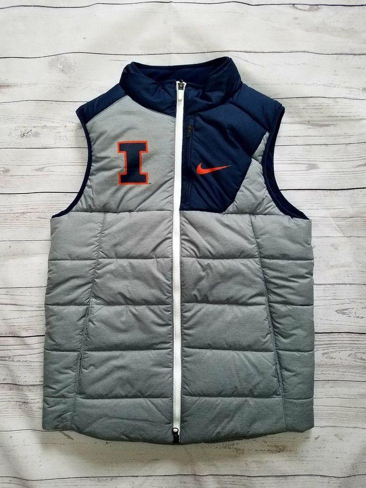 Nike Mens Player Illinois Fighting Illini Vest Sizes S; 2XL $120 #IllinoisFightingIllini