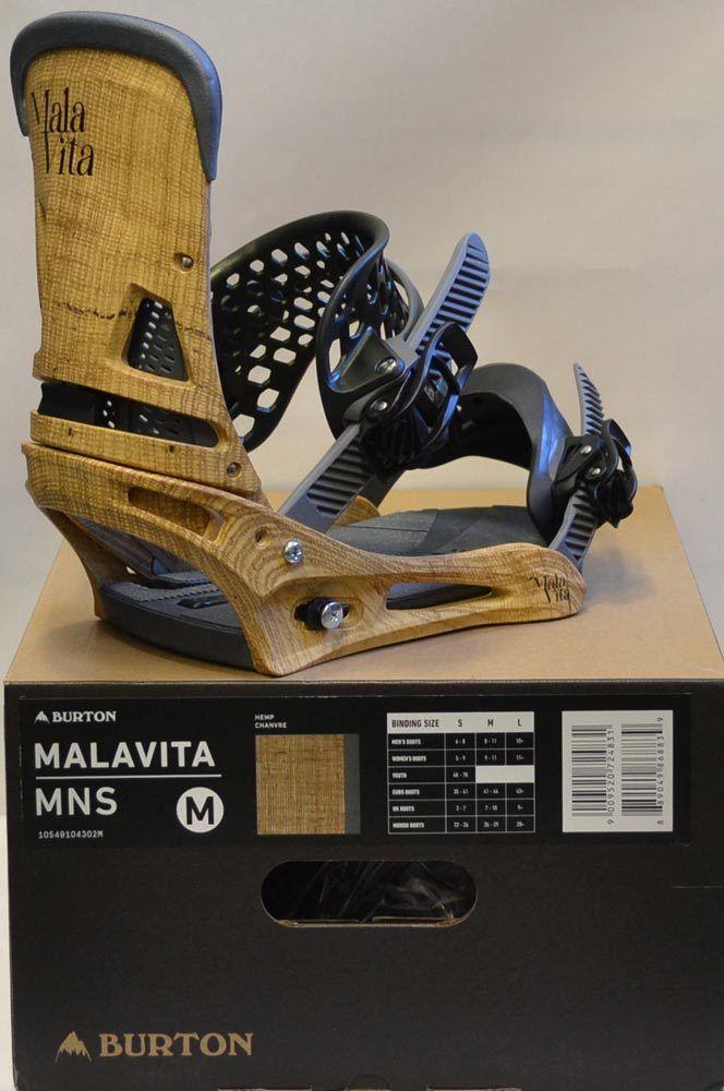 7d519da4528 Bindings 21248  17 18 Burton Malavita Mens Bindings – Medium - Color  Hemp   New  -  BUY IT NOW ONLY   223.95 on eBay!