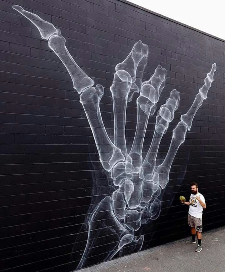 Invisible hand of the artist...?