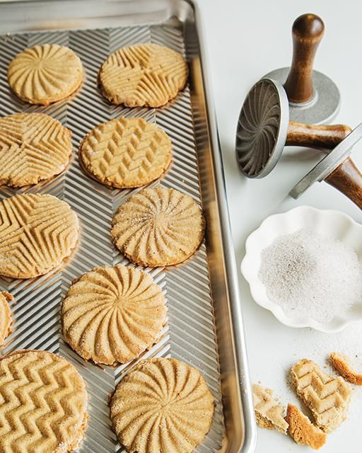 In Norway, cardamom is one of the main flavors of the holiday season. When my friends at Nordic Ware gave me these amazing cookie stamps, I knew I needed to make my grandmother's cardamom shortbread and try them out. I'm sure you'll agree, the results are stunning!