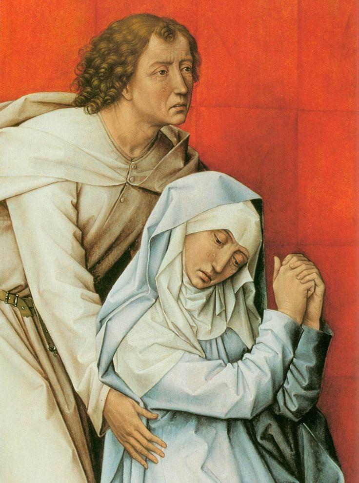 Rogier van der Weyden - The Crucifixion Diptych, detail, 1460 ...