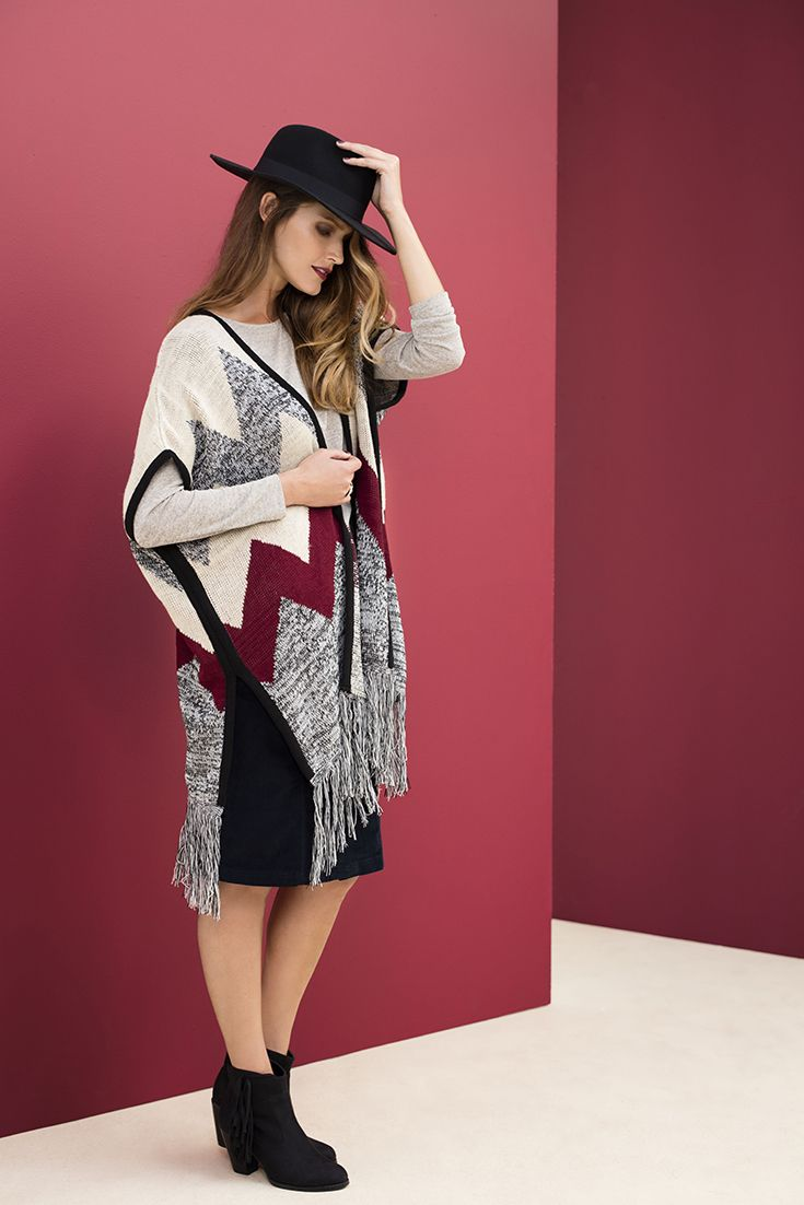 Wearing the blanket wrap with a pencil skirt and tassel ankle boots. #blanketwrap #ankleboot