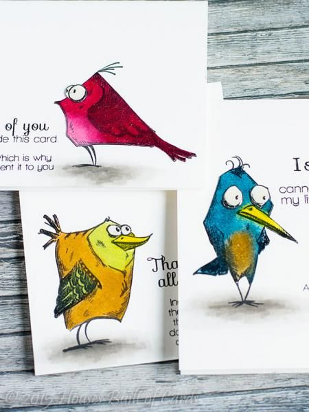 Bird Set by housesbuiltofcards - Cards and Paper Crafts at Splitcoaststampers