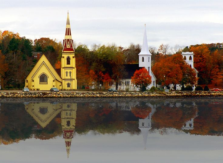 The Three Church's, Mahone Bay Nova Scotia