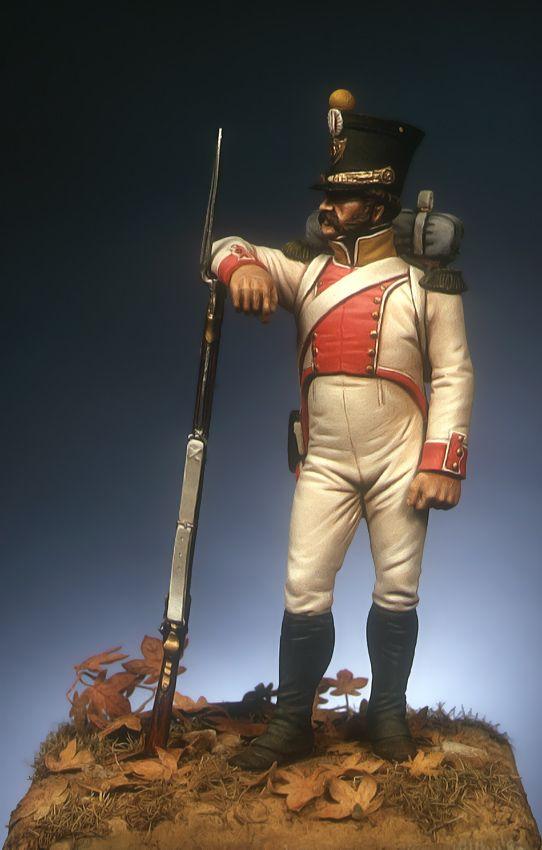 Fuciliere di un rgt. di fanteria leggera del regno di Napoli