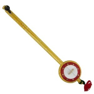 Iktara jaune en bois fabriqué artisanalement en Inde - Instrument de musique folklorique indienne avec 1 corde: Amazon.fr: Instruments de musique
