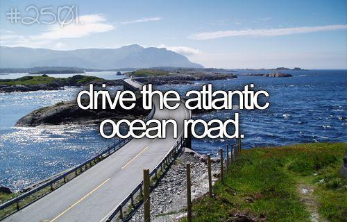 MAGICALBucketlist, Buckets Lists, Summer Roads Trips, Dreams, Atlantic Ocean, Ocean Roads, Beforeidie, Before I Die, Bucket Lists