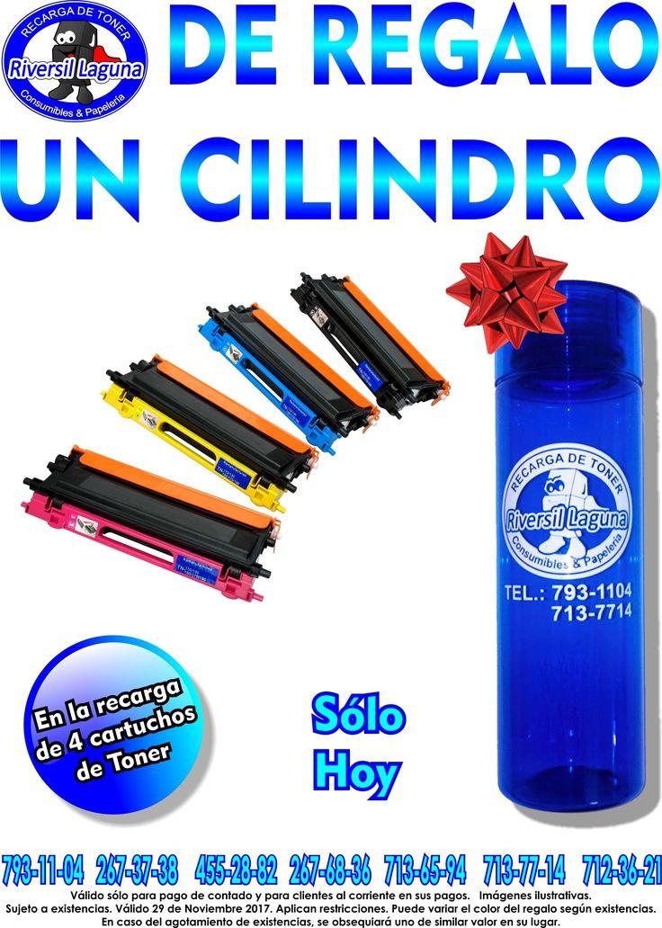 #Hoy te damos de #regalo un #cilindro para el #agua con tus #recargas de #toner 😄  #Servicio a #domicilio.  Llámanos: 793-11-04 267-37-38 455-28-82 267-68-36 713-65-94 713-77-14 712-36-21