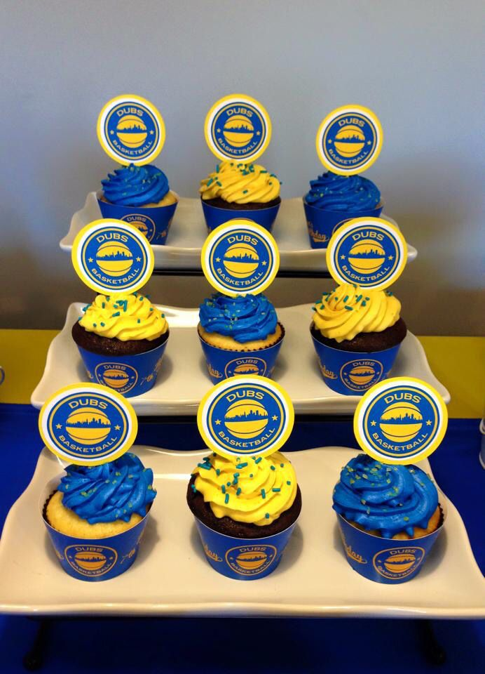 Basketball Warriors Cupcakes Just Lovely Favors Pinterest