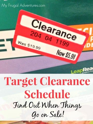 Target Clearance Schedule {When Do Things Go On Sale at Target?}  Check this out before you shop- great tips to find the best prices!