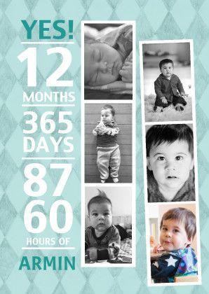 verjaardag  jongen 1 met pasfoto - Uitnodigingen - Kaartje2go