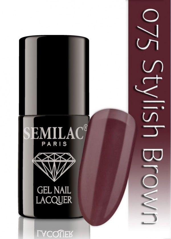 Semilac 075 Stylish Brown UV&LED Nagellack