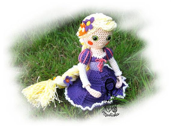 Crochet PATTERN Tangled Princess Rapunzel by NellagoldsCrocheting
