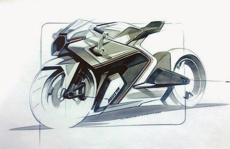 Slick MV Agusta marker sketch by Shane Paul Sumampouw