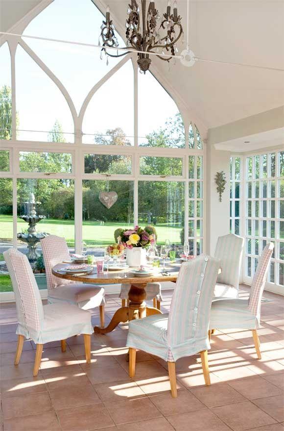 Wish i had a breakfast room like this home decor for Sunroom breakfast nook