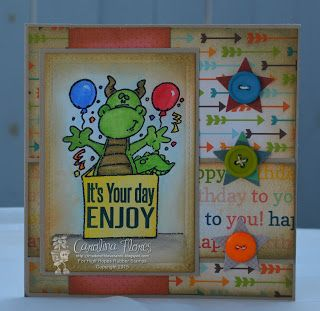 "High Hopes Stamps: ""It's Your Day ENJOY"" by Carolina using Party Dragon (Q134)"