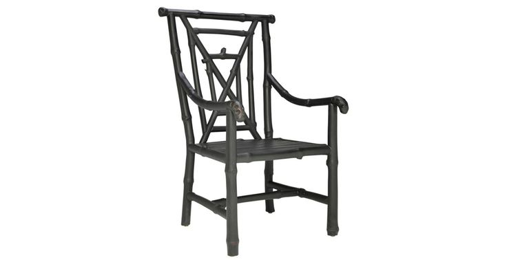 A beautifully shaped bamboo chair inspired by Asian design. Meant for indoor or covered patio use only.For nearly 35 years, JANUS et Cie has provided the best in interior and exterior furnishings,...