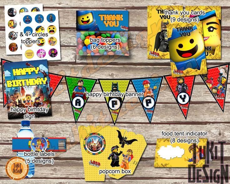 Lego Movie Party Kit BIRTHDAY Printable INSTANT by