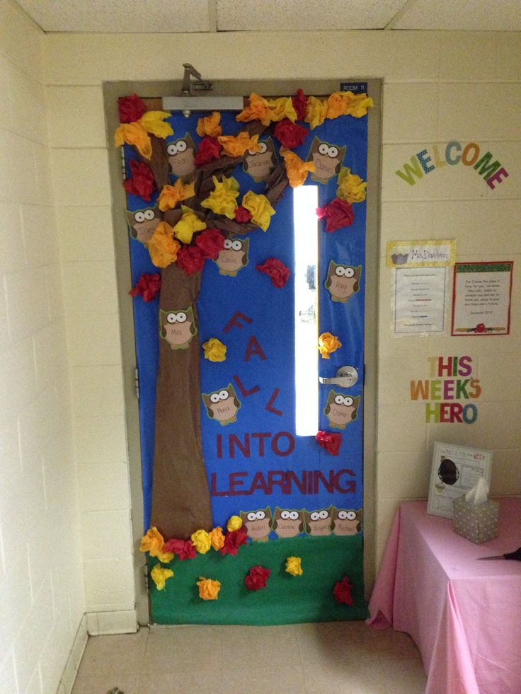 Fall themed classroom door school pinterest for Autumn classroom door decoration ideas