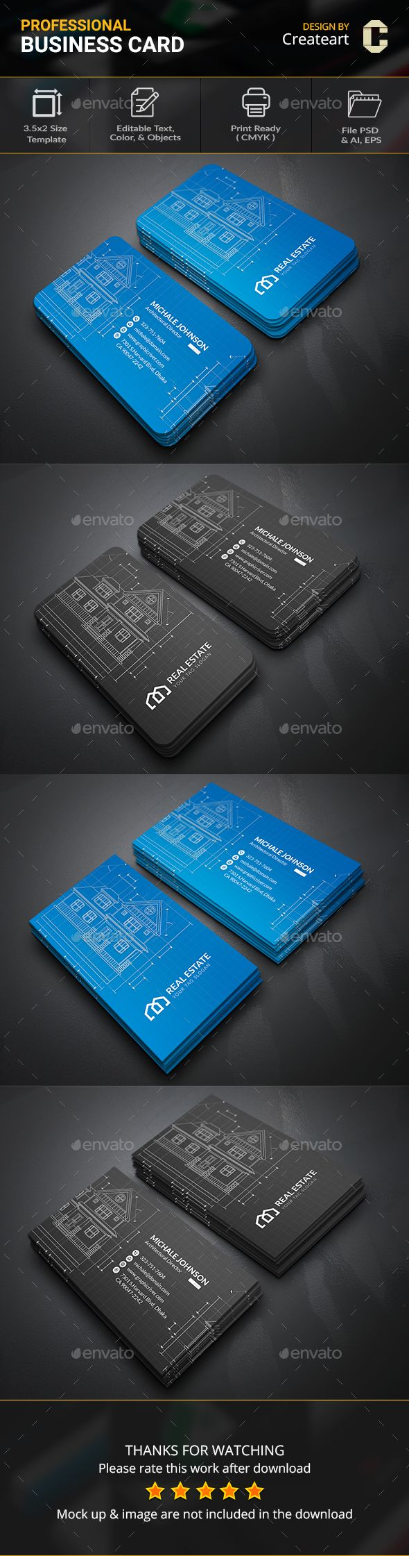 Architecture Business Card - #Business #Cards Print Templates Download here:  https://graphicriver.net/item/architecture-business-card/20075389?ref=alena994