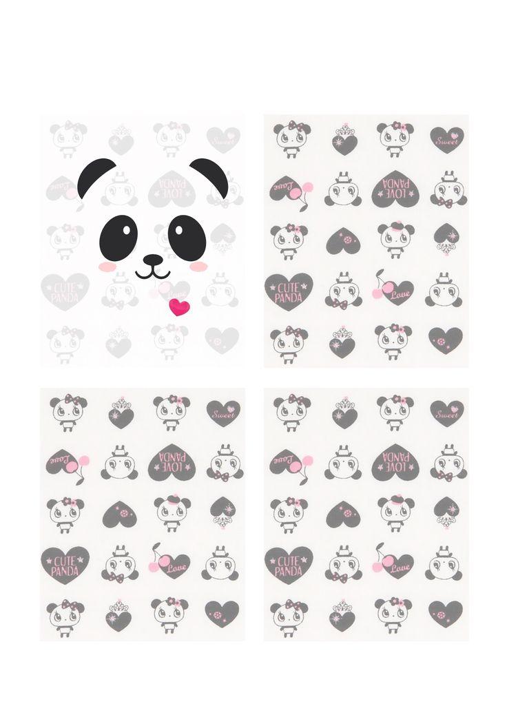Molde Mini Caderno de Panda - Assista o tutorial: https://www.youtube.com/watch?v=d9EUOkCt1aU