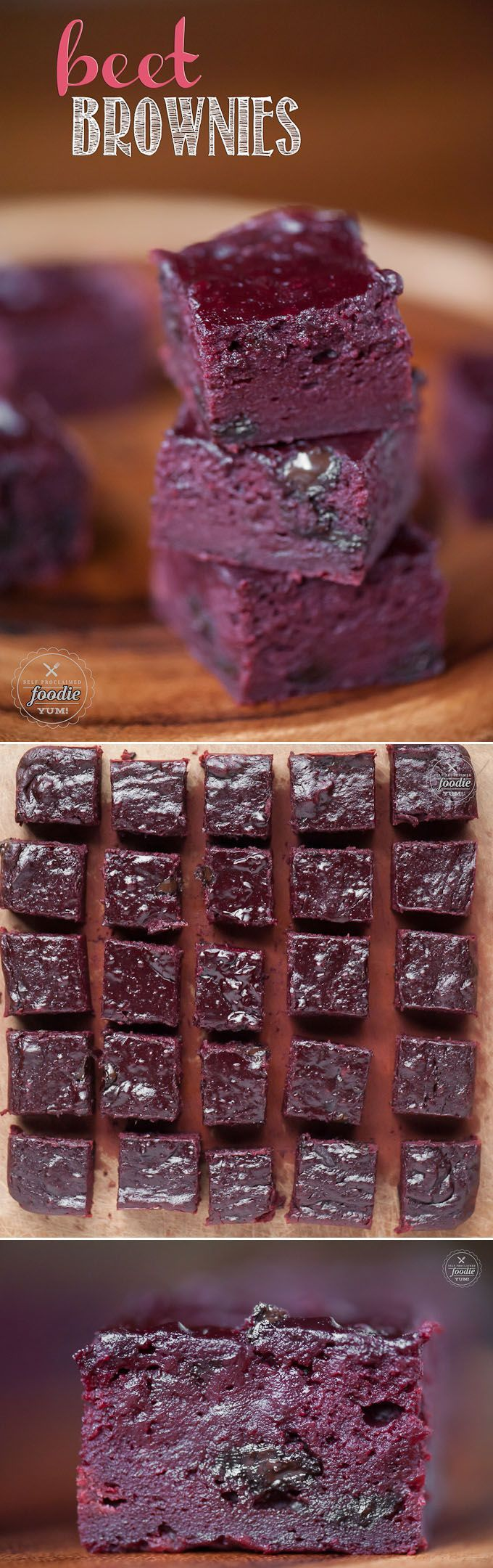 Beet Brownies are made with my decadent brown butter brownie recipe and have a buttermilk beet puree mixed in to yield a lusciously soft red velvet brownie.
