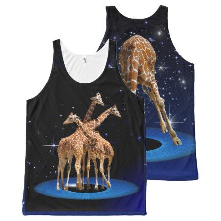GIRAFFES IN SPACE All-Over-Print TANK TOP - click to get yours right now!