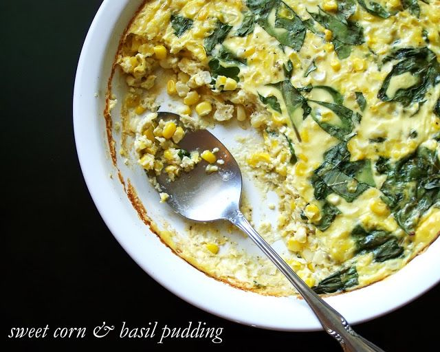 Sweet corn, Basil and Puddings on Pinterest