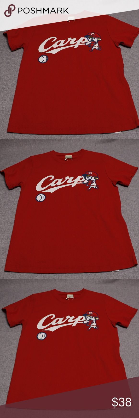 NWT Hiroshima Toyo Carp Baseball T-Shirt Hiroshima Toyo Carp Baseball T-Shirt - New with Tags! Laundry - 100% Cotton - Small Laundry Shirts Tees - Short Sleeve