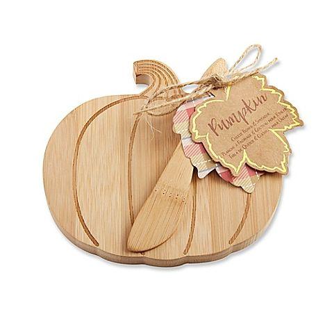 Kate Aspen® Pumpkin Cheeseboard and Spreader (Set of 6)