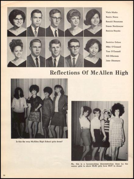 1967 McAllen High School Yearbook via Classmates.com