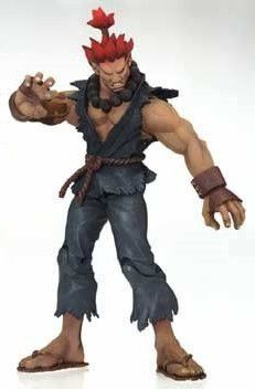 Street Fighter III 3rd Strike Round Two Player One Akuma Action Figure (Red Hair, Gray Outfit Variant)