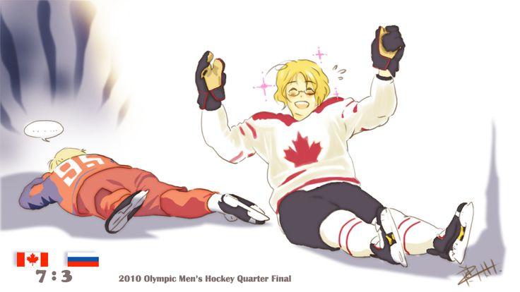 Canada 7, Russia 3 by piggyhoho.deviantart.com on @deviantART