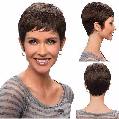 Fashion Short Cut Wigs For Black Women Cheap Synthetic Short Brown Haircuts
