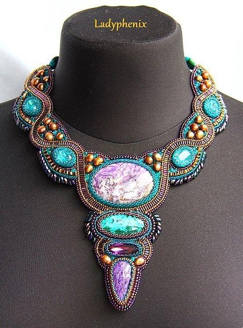 Lady Phenix embroidery