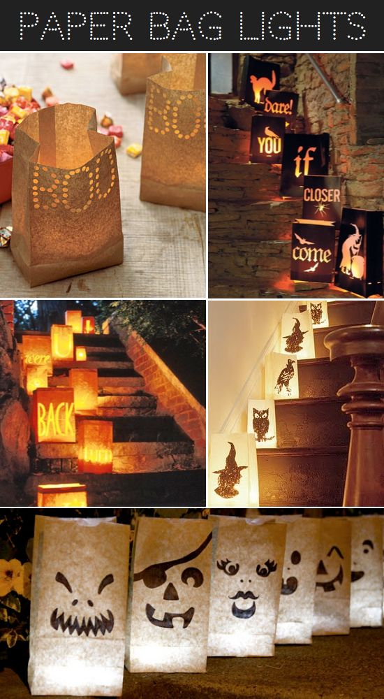 Diy halloween paper bag lights and more luminary ideas for Homemade luminaries