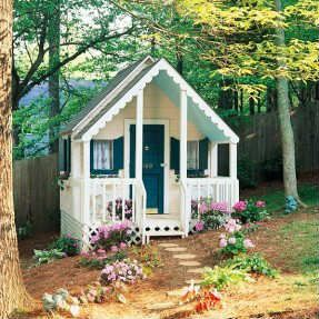 Whimsical playhouse | 10 Amazingly Awesome Cubby Houses Part 3 - Tinyme Blog