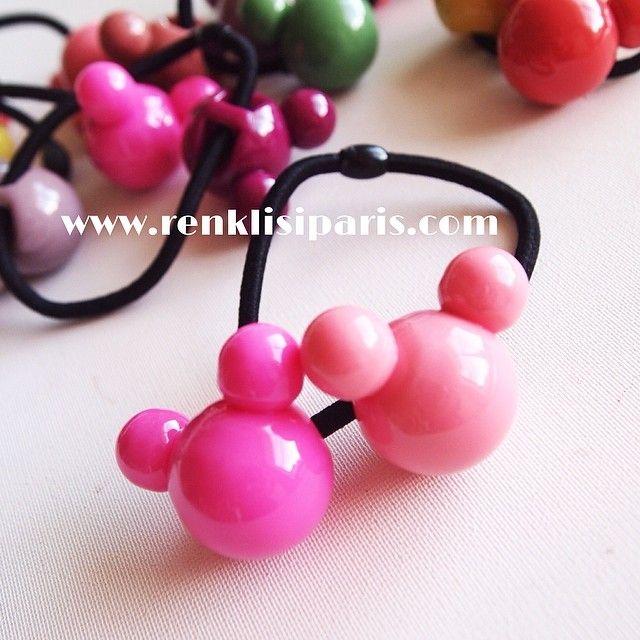 Rengarenk Minnie Mouse sac tokalari SATIŞTA  www.renklisiparis.com