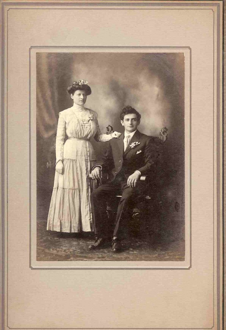 Antique Photo Of A Young Couple 1920s Is This Their Wedding Day Great Gift For The Bridal