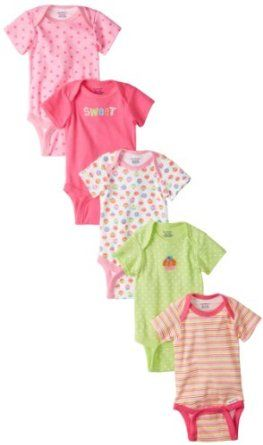 Gerber Baby-Girls Cupcakes 5 Pack Variety Onesies Brand, Pink/Green, 3-6 Months  Gerber $10.39