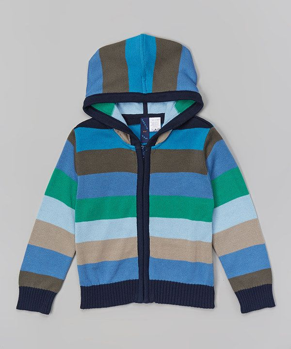 Look at this Blue & Green Stripe Zip-Up Hoodie - Infant & Boys on #zulily today!