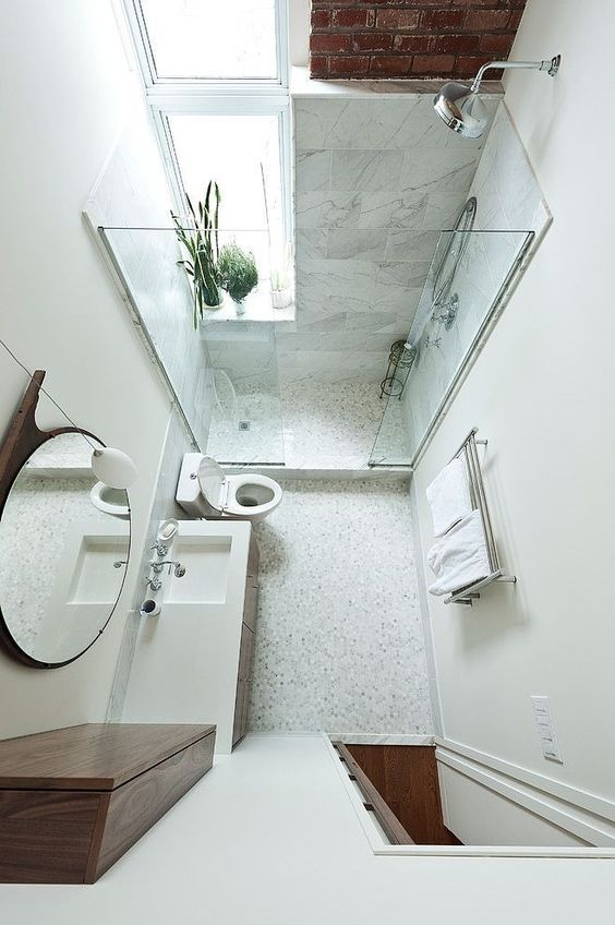#6 of 20 -Tiny Bathroom Ideas with Perfect-sized Sink by Amy Amelia