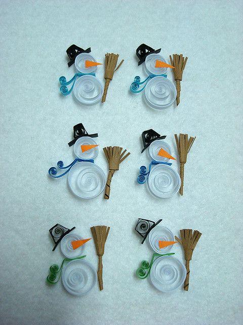 Quilled Snowmen