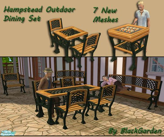 BlackGarden's Hampstead Outdoor Dining Set