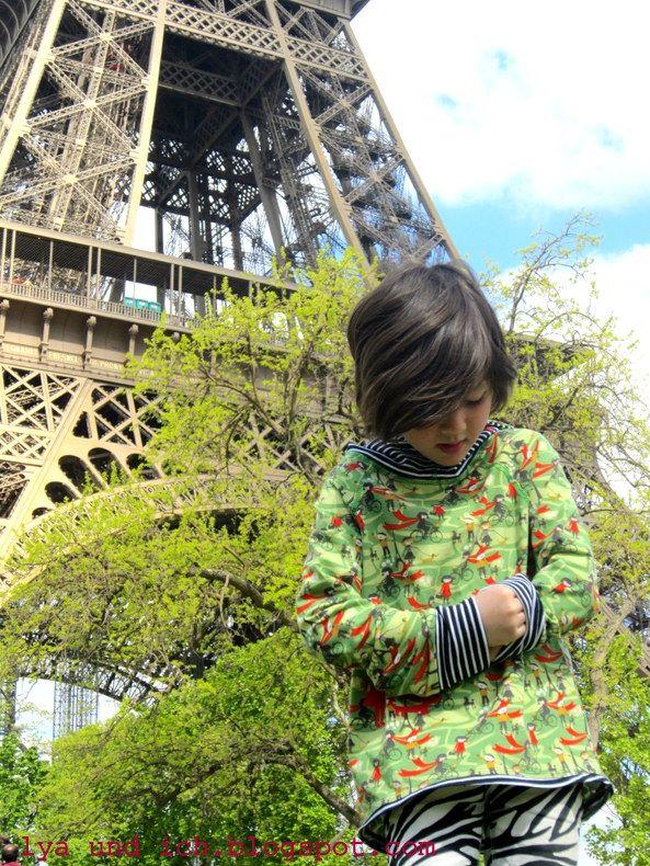 Maedchenwahn: Lya und ich am Eifelturm mit Paris mon Amour