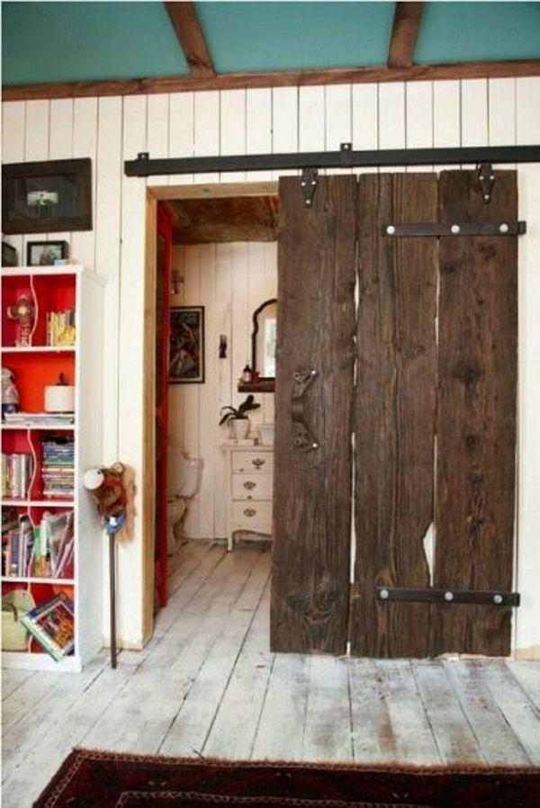 Bathroom shabby chic style door rustic wood room dividers