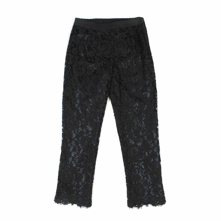 Dolce & Gabbana - Pantalone Pizzo Nero Esclusivo per bambine della nuovissima linea di abbigliamento Bambina firmata Dolce & Gabbana Junior - Collezione Primavera Estate 2017.  annameglio.com shop online