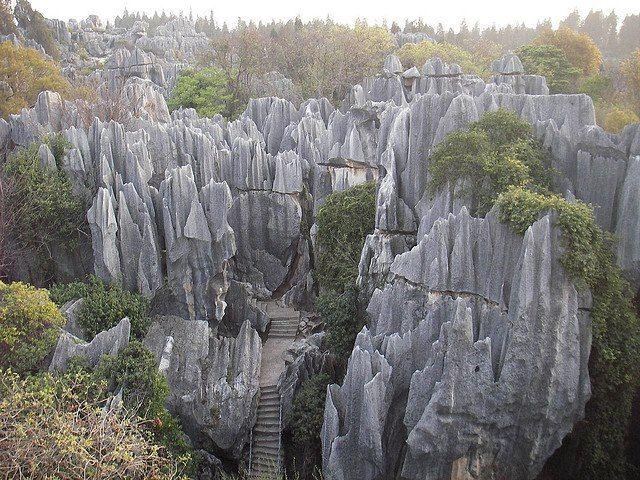 Bosque de piedra en Shilin, China
