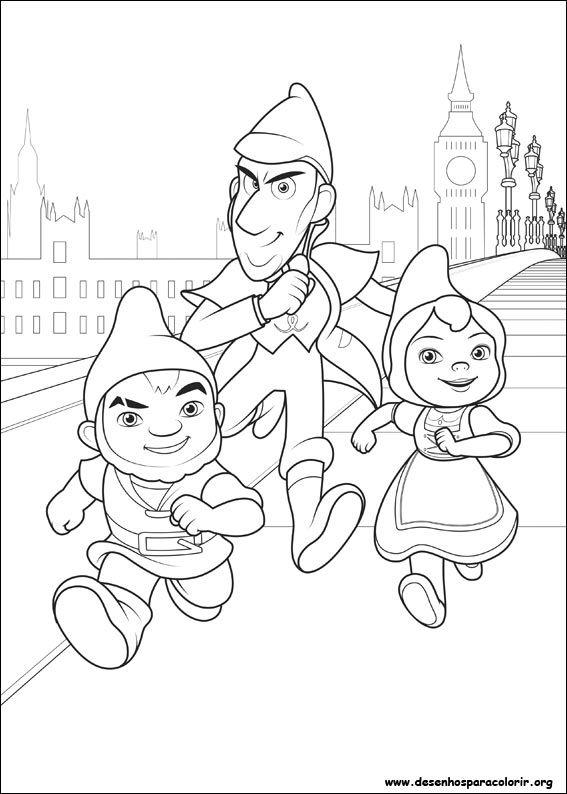 Gnomeu E Julieta 2 Sherlock Gnomes Desenhos Para Colorir Imprimir
